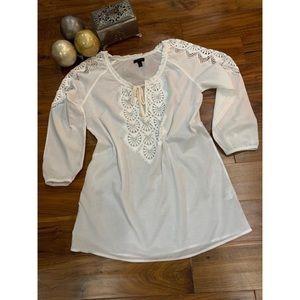 J.CREW white Blouse size M
